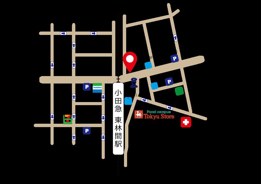 東林間店略図