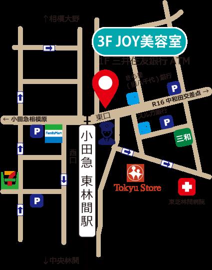 東林間店地図