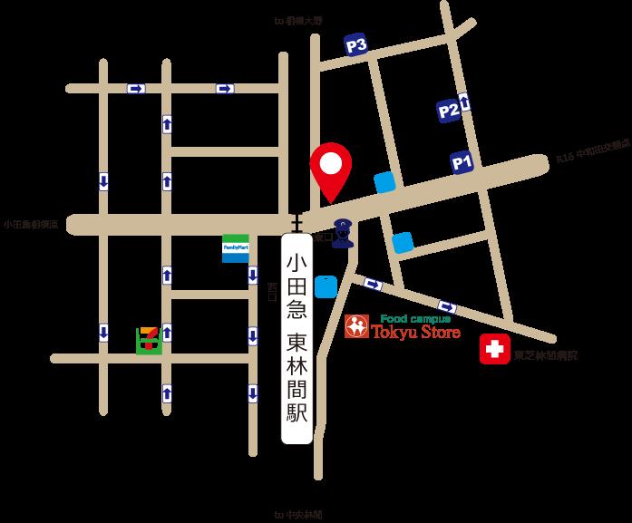 JOY美容室 東林間店 周辺地図