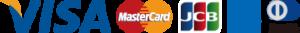 VISA、Mastercard、JCB,American Express,Diners Club